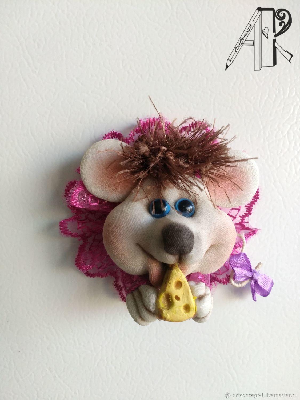 Сувенир символ года - кукла из капрона магнит на холодильник Крыска, Магниты, Рязань,  Фото №1
