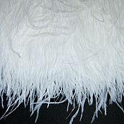 Материалы для творчества handmade. Livemaster - original item Trim of ostrich feathers 10-15 cm white and milk. Handmade.