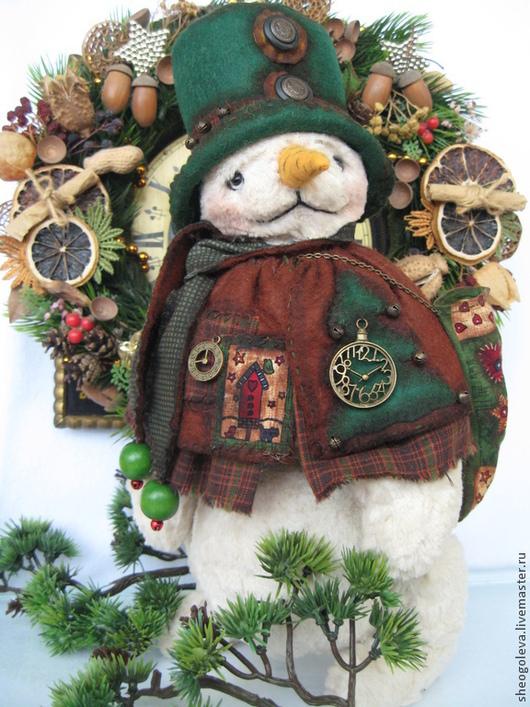 Мишки Тедди ручной работы. Ярмарка Мастеров - ручная работа. Купить Merry Christmas...))). Handmade. Тёмно-зелёный