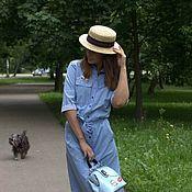 Одежда handmade. Livemaster - original item Shirt dress with pockets. Handmade.