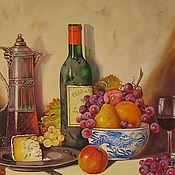 Картины и панно ручной работы. Ярмарка Мастеров - ручная работа картина маслом Натюрморт Старое вино. Живопись маслом на холсте. Handmade.