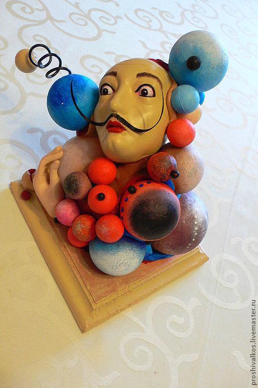 Портретные куклы ручной работы. Ярмарка Мастеров - ручная работа. Купить Молекула Сальвадора. Handmade. Сальвадор Дали, усы, пластик