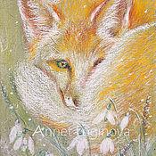 Картины и панно ручной работы. Ярмарка Мастеров - ручная работа Весенний лис. Handmade.