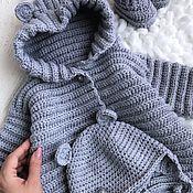 Работы для детей, handmade. Livemaster - original item Baby jumpsuit on discharge color Melange. Handmade.