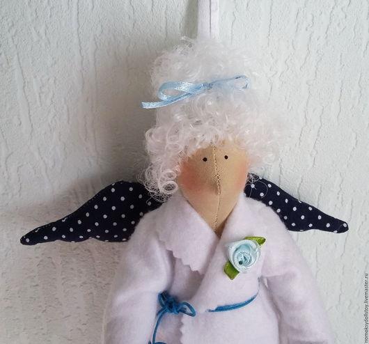 Ванная комната ручной работы. Ярмарка Мастеров - ручная работа. Купить Тильда - Хранительница ватных дисков и палочек. Handmade. Ангел