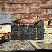 Для дома и интерьера handmade. Livemaster - original item Treasure chest pirate