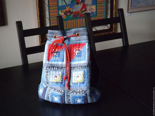 Рюкзаки ручной работы. Ярмарка Мастеров - ручная работа. Купить Рюкзак городской джинсовый. Handmade. Комбинированный, сиетепон