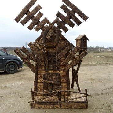 Для дома и интерьера ручной работы. Ярмарка Мастеров - ручная работа Декоративная мельница для сада-изюминка ландшафта. Handmade.