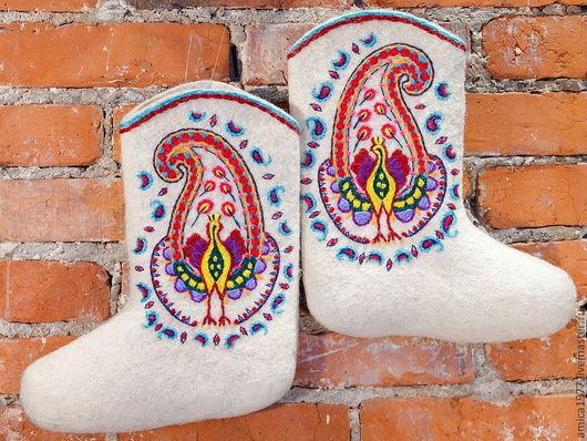 """Обувь ручной работы. Ярмарка Мастеров - ручная работа. Купить Вышитые валенки """"Etro"""". Handmade. Валенки ручной валки"""