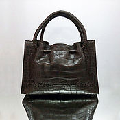 Сумки и аксессуары handmade. Livemaster - original item Bag made of crocodile skin VELVET. Handmade.