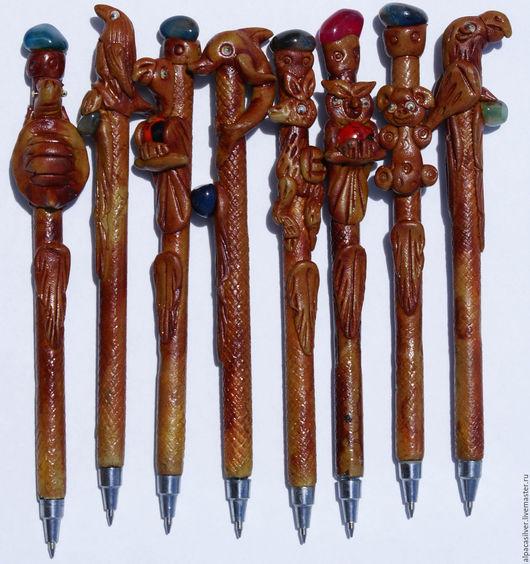 Карандаши, ручки ручной работы. Ярмарка Мастеров - ручная работа. Купить Керамические ручки. Handmade. Коричневый, ручки, дюропокс, Керамика