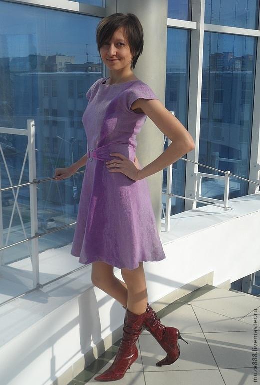 """Платья ручной работы. Ярмарка Мастеров - ручная работа. Купить Платье ручной работы """"Lilac maelstrom"""". Handmade. Сиреневый"""