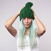 Caps handmade. Livemaster - original item Hat Green. Handmade.