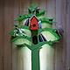 Детская ручной работы. Ярмарка Мастеров - ручная работа. Купить Зеленое дерево-стеллаж с подсветкой для детской комнаты -2). Handmade.