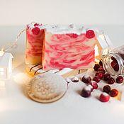 Косметика ручной работы handmade. Livemaster - original item Natural soap from scratch handmade Cranberry red. Handmade.
