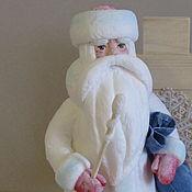 Куклы и пупсы ручной работы. Ярмарка Мастеров - ручная работа Добрый ватный Дед Мороз.. Handmade.