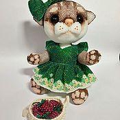 Куклы и игрушки ручной работы. Ярмарка Мастеров - ручная работа Кошечка из бисера. Handmade.