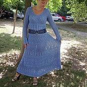 Одежда ручной работы. Ярмарка Мастеров - ручная работа Длинное ажурное платье спицами. Handmade.