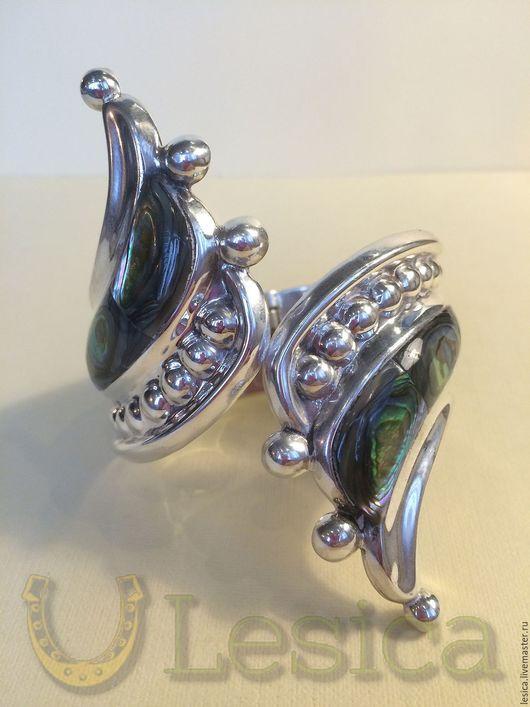 Винтажные украшения. Ярмарка Мастеров - ручная работа. Купить Браслет серебро 925 абалонь TAXCO MEXIKO винтаж. Handmade.