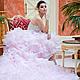 Одежда и аксессуары ручной работы. Ярмарка Мастеров - ручная работа. Купить Розовое свадебное платье пачка AVA LUXE с длинным шлейфом. Handmade.