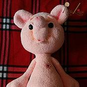 Вязаная игрушка мишка Зефирка