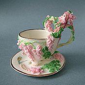 Посуда ручной работы. Ярмарка Мастеров - ручная работа Чайная пара Дриада. Handmade.