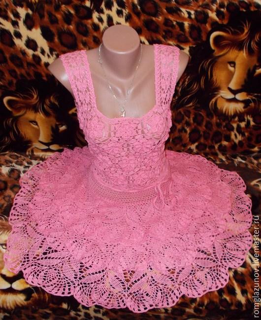 """Платья ручной работы. Ярмарка Мастеров - ручная работа. Купить Платье-сарафан """"Розовый зефир"""". Handmade. Розовый, хлопок мерсеризованный"""