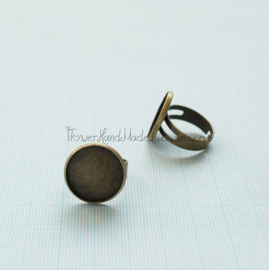 Для украшений ручной работы. Ярмарка Мастеров - ручная работа. Купить Ф099 Основа для кольца 1,8 см под бронзу. Handmade.