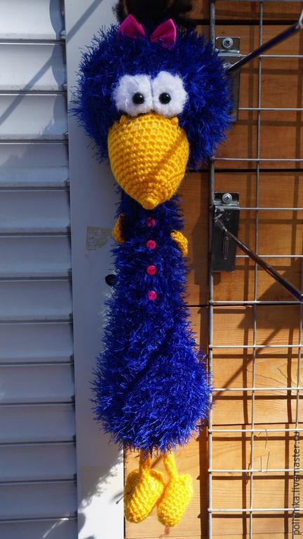 Игрушки животные, ручной работы. Ярмарка Мастеров - ручная работа. Купить Синяя птица. Handmade. Тёмно-синий, амигуруми