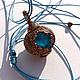 """Кулоны, подвески ручной работы. Ярмарка Мастеров - ручная работа. Купить Кулон """"Голубая планета"""". Handmade. Голубой, гальванопластика, украшения"""