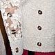 Верхняя одежда ручной работы. Приталенный двубортный жакет-куртка из двух видов ткани контрастных по текстуре и сходных по цвету, составит достойную пару не только спортивным джинсам, но и элегантной