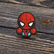Украшения handmade. Livemaster - original item Wooden icon Spider-Man. Handmade.