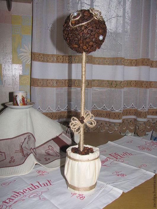 Топиарии ручной работы. Ярмарка Мастеров - ручная работа. Купить Кофейный топиарий. Handmade. Кофе, коричневый, подарок, топиарий, бечевка