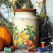 """Для дома и интерьера ручной работы. Ярмарка Мастеров - ручная работа Бидон """"Тыквы"""". Handmade."""