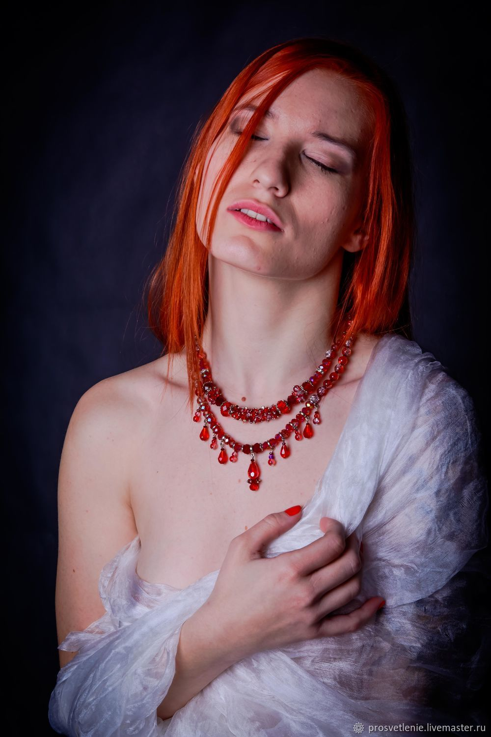 Decoration Svetlana Boiko to buy at the Fair Masters. Handmade. Decoration on the neck.Spectacular red necklace. Author's handmade necklace. Handmade jewelry. Bright charm necklace