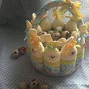Для дома и интерьера ручной работы. Ярмарка Мастеров - ручная работа Корзинка для яиц, конфет, Пасхальная корзинка. Handmade.