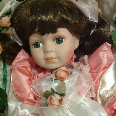 Винтаж ручной работы. Ярмарка Мастеров - ручная работа Винтаж: Кукла фарфоровая на качелях 30 см. Handmade.