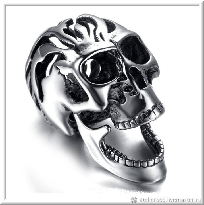 Skull pendant No. 1 stainless steel, Pendant, Moscow,  Фото №1
