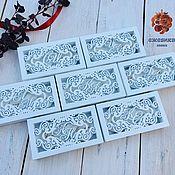 Свадебный салон handmade. Livemaster - original item Ring box with initials. Handmade.