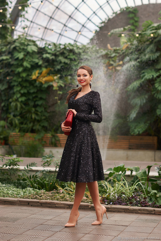 Красивое платье в пайетку , в миди длине, Платья, Санкт-Петербург,  Фото №1
