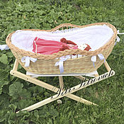 Куклы и игрушки ручной работы. Ярмарка Мастеров - ручная работа Кукольная люлечка. Handmade.