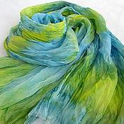 Аксессуары ручной работы. Ярмарка Мастеров - ручная работа Шелковый шарф Лесная Нимфа. Handmade.