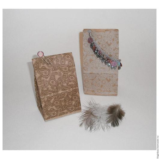 Крафт-пакет `Восточный орнамент` 10х7х19 см