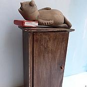 Сувениры и подарки ручной работы. Ярмарка Мастеров - ручная работа Библиотечка в шкафу. Handmade.