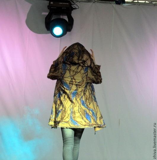 Верхняя одежда ручной работы. Ярмарка Мастеров - ручная работа. Купить Льняное пальто Лесной ручей. Handmade. Коричневый