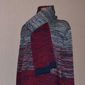 Одежда ручной работы. Ярмарка Мастеров - ручная работа Мужской пуловер и шарф. Handmade.