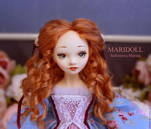 Коллекционные куклы ручной работы. Ярмарка Мастеров - ручная работа. Купить Лорелей подвижная кукла. Handmade. Подарок девушке, пряжа