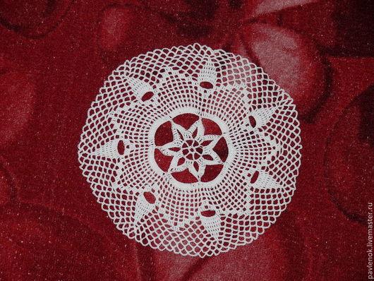 Текстиль, ковры ручной работы. Ярмарка Мастеров - ручная работа. Купить Салфетка крючком № 1. Handmade. Белый