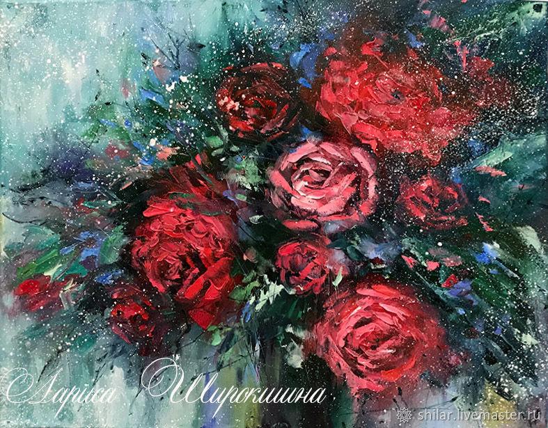 """Картины цветов ручной работы. Ярмарка Мастеров - ручная работа. Купить """"Роскошь """" картина маслом. Handmade. Цветы"""