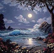Картины и панно ручной работы. Ярмарка Мастеров - ручная работа Ночное море. Handmade.